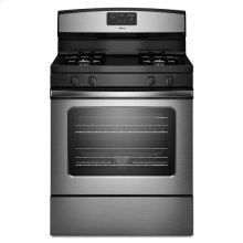 Amana® 5.0 cu. ft. Gas Oven Range with Easy Touch Electronic Controls - Stainless Steel -FLOOR MODEL