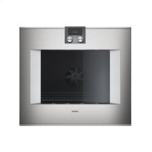 "400 series single oven BO 480 610 Stainless steel-backed full glass door Width 30"" (76 cm) Right-hinged controls on top"