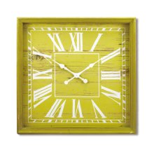 Wooden Wall Clock XL, Chartreuse