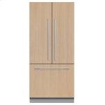 "Fisher & PaykelIntegrated French Door Refrigerator Freezer, 32"", Ice"