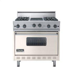 "Oyster Gray 36"" Open Burner Range - VGIC (36"" wide, four burners 12"" wide char-grill)"