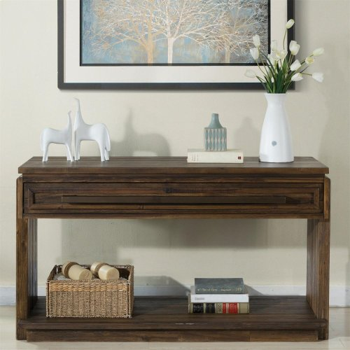Modern Gatherings - Console Table - Brushed Acacia Finish