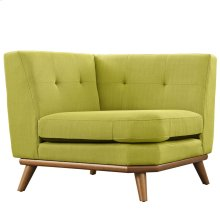 Engage Upholstered Fabric Corner Sofa in Wheatgrass