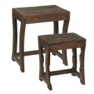 Repurposed Wagon Wheel Nested Table (Each One Will Vary) (2 pc. set) Product Image