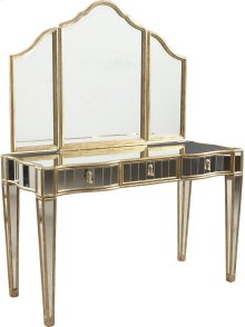 Dylan Vanity and Delia Tri-Fold Mirror