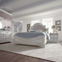 Queen Uph Bed, Dresser & Mirror, NS