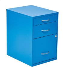 "22"" Pencil, Box, Storage File Cabinet In Blue Finish"