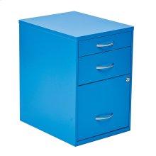 """22"""" Pencil, Box, Storage File Cabinet In Blue Finish"""