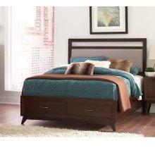 Carrington Mid-century Modern Coffee Queen Bed