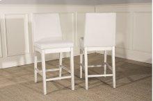 Clarion Non-swivel Parson Counter Height Stool - Set of 2 - Sea White