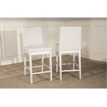 Clarion Non-swivel Parson Counter Height Stool - Set of 2 - Sea White