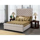 Queen Bed Frame Beige Product Image