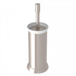 Satin Nickel Perrin & Rowe Holborn Floor Standing Porcelain Toilet Brush Holder
