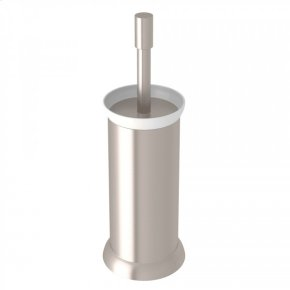 Satin Nickel Perrin & Rowe Holborn Floor Standing Toilet Brush Holder
