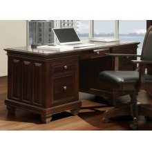 Florentino Executive Desk W/ Keyboard Pullout and File Drawers