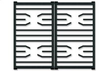 """30"""" Transitional Gas Cooktop Grate Set"""