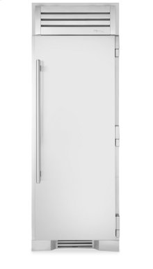30 Inch Stainless Door Freezer Column - Left Hinge Stainless Solid