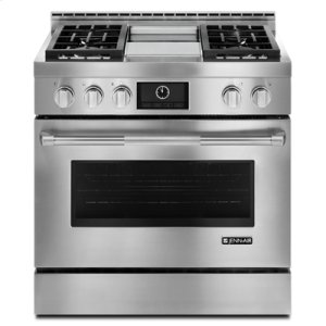 "Jenn-AirPro-Style® 36"" Gas Range with Griddle and MultiMode® Convection"