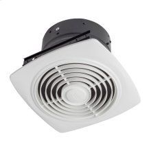 "10"" 350 CFM Vertical Discharge Fan, White Square Plastic Grille"