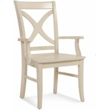 Hues Dining Arm Chair with Wood Seat