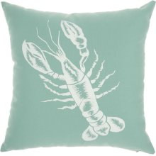 "Outdoor Pillows L0032 Aqua 18"" X 18"""