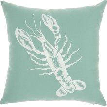 """Outdoor Pillows L0032 Aqua 18"""" X 18"""""""