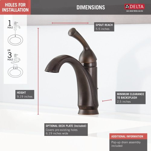 Venetian Bronze Single Handle Centerset Bathroom Faucet