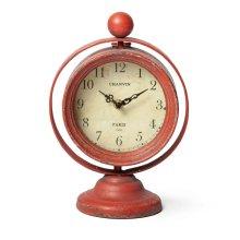 Swivel Clock, Red