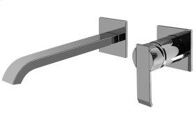 Qubic Wall-Mounted Lavatory Faucet w/Single Handle