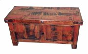 "63"" Red Rubbed Trunk Product Image"
