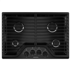 Amana(R) 30-inch Gas Cooktop with 4 Burners - Black - BLACK