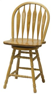 "24"" Colonial Windsor Bowback Barstool Product Image"