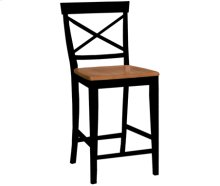 "24"" X Back Stool Cherry & Black"