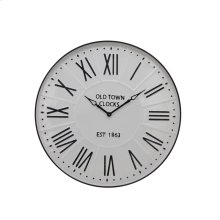 "Metal Wall Clock 31.5"" White Wb"