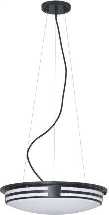 Fluor. Ceiling Lamp, Black/wht Acrylic, Cir. Bulb T9 22w+32w