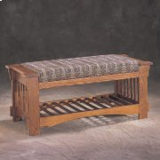 Solid Oak Bench Product Image