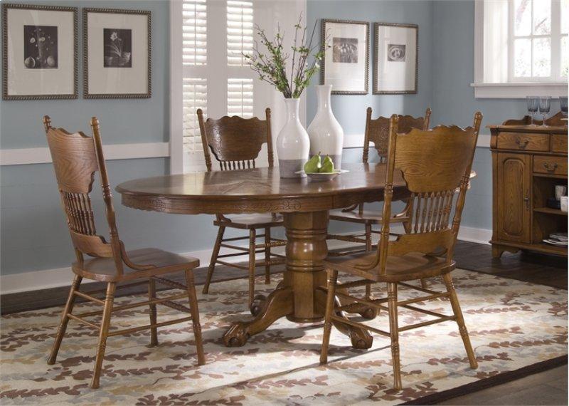 Luxury Rectangular Pedestal Kitchen Table