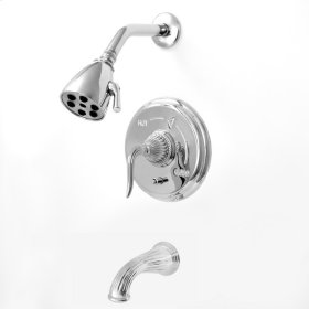 3200 Series Pressure Balance Tub and Shower Set with Jefferson Elite II Handle (available as trim only P/N: 1.320268DT)