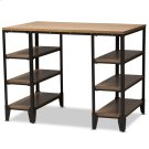 Baxton Studio Pepe Rustic Industrial Metal and Distressed Wood Storage Desk Product Image
