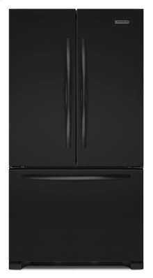 Black-on-Black KitchenAid® 22 Cu. Ft. Counter-Depth French Door Refrigerator, Architect® Series II
