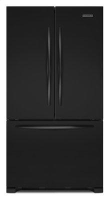 Black-on-Black KitchenAid® 22 Cu. Ft. Counter-Depth French Door Refrigerator, Architect® Series II
