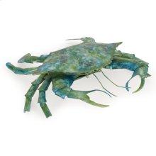 Metal Crab Large Blue Green Finish