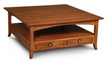 Shaker Hill 4-Drawer Square Coffee Table