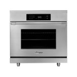 """Dacor36"""" Heritage Induction Pro Range, Silver Stainless Steel"""