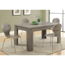 """DINING TABLE - 36""""X 60"""" / DARK TAUPE"""