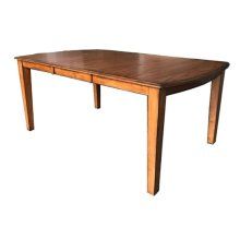 "Dining Table W/18"" Self-storing Leaf"