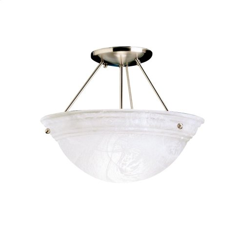 Cove Molding Top Glass Collection Cove Molding 2 Bulb Semi Flush Ceiling Light NI