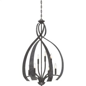 Outlook Chandelier in Old Black