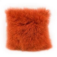 Lamb Fur Pillow Orange
