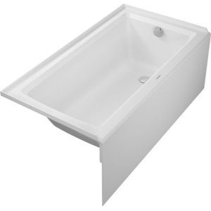 White Architec Bathtub With Panel Height 21""